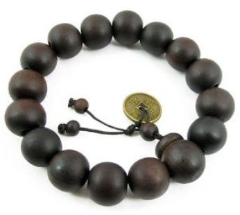 KD Unisex Large 15mm Wooden Bead B-LA-B Bracelet – Dark Brown