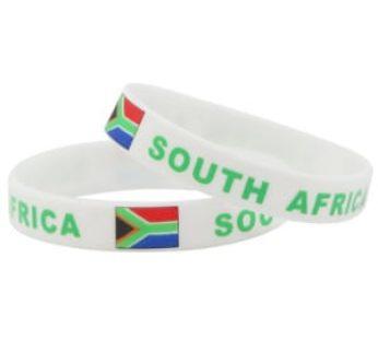 KD 10pc South Africa silicone wristband (B-RSA/10)