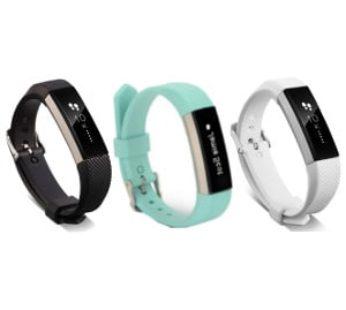 KD Fitbit Alta silicone strap (M-L) combo -(x3) Black, f.blue, white