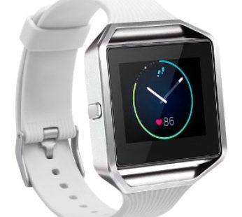 KD Fitbit Blaze replacement silicone strap – White (S-M-L)