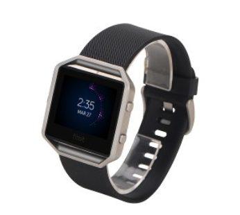 KD Fitbit Blaze replacement silicone strap – Black (S-M)