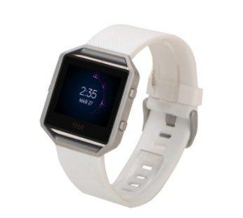 KD Fitbit Blaze replacement silicone strap – White (S-M)