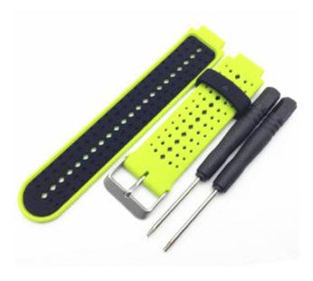 KD Garmin Forerunner silicone strap – Green & black (S-M-L)