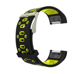 KD Silicone Strap for Fitbit Charge 2 (S/M/L) -Black & Yellow (S-FC2-B+Y)