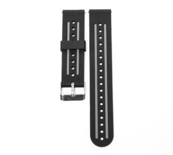 KD Huawei GT Sport/Vivoactive 4 silicone strap – Black & grey (S-M-L)