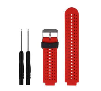 KD Silicone Strap for Garmin Forerunner 220/230/235/630/620/735 – Red & Black (S-GFR-B+R)