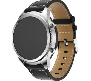 KD TPU Leather Strap Samsung Gear S3 frontier Black (S-S3-L-B)