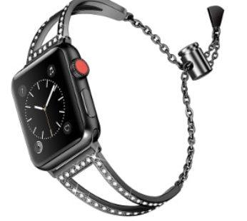 KD Jewelry Bracelet Strap for 42/44mm Apple Watch – Blac (S-A42MM-J-B)