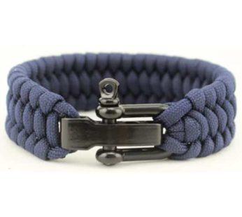 KD Paracord Outdoor Camping Tactical Survival Bracelet – Navy (S-M-L)