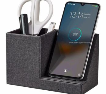 KD Fast 10W Wireless Smartphone Charger Desk Organizer Box