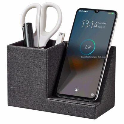 wireless charger desk organizer