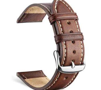 KD Polar Vantage M replacement genuine leather strap – Brown (S-M-L)
