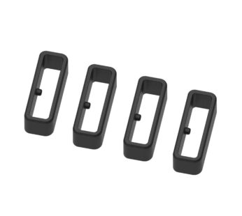 KD Garmin Forerunner 220/945 silicone strap loop keepers – (x4) Black