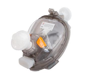 KD swim dive snorkel full face underwater breathing mask + (x2) Adapters