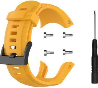 KD Suunto 5 replacement silicone strap – Mustard (S-M-L)