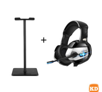 KD ONIKUMA K5 stereo PS4/PS5/Xbox/PC gaming headset + portable stand combo