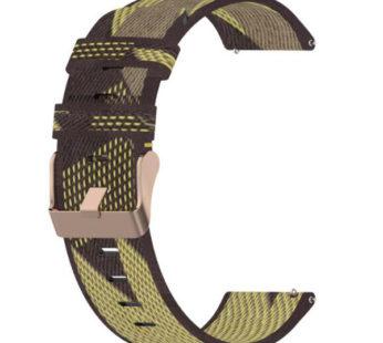 KD 22mm Huawei Watch 2/Pro/GT/Active nylon strap – – Yellow stripes
