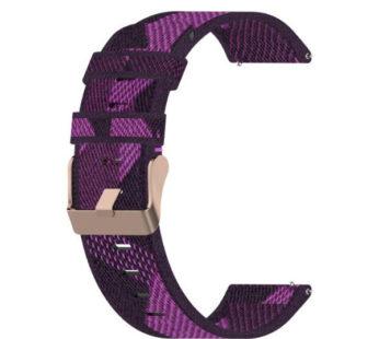 KD 22mm Huawei Watch 2/Pro/GT/Active nylon strap – Purple stripes