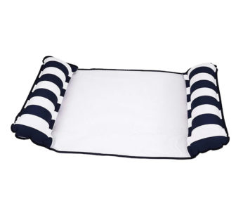 KD Monterey 4-in-1 floating pool hammock – Navy, white