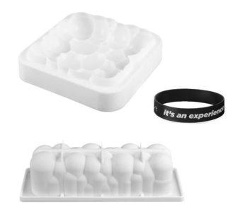 KD Rectangular Cloud baking mould + Cloud Bubble Cake silicone baking mould – Combo