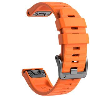 KD 26mm Garmin Fenix 6X/Pro/5X/Plus silicone strap – Orange (S-M-L)