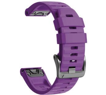 KD 26mm Garmin Fenix 6X/Pro/5X/Plus silicone strap – Purple (S-M-L)