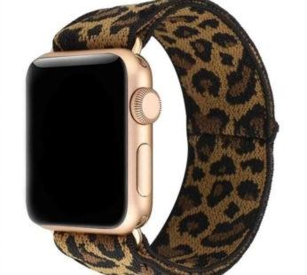 KD 38/40mm Apple Watch 6/5 stretchy elastic nylon strap – Leopard (S-M-L)