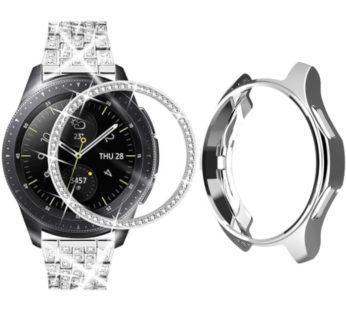 KD 46mm Samsung Galaxy Watch TPU case + bezel ring combo – Silver