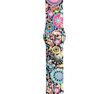 KD 38/40mm Apple Watch 6/SE/5/4/3/2/1 silicone strap – Flower (M-L)