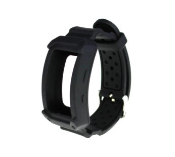 KD Samsung Gear Fit 2/2 Pro replacement silicone strap – Black (S-M-L)