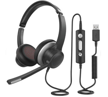 KD Call Centre/Office/Business USB Noise-Cancelling Headset & Microphone