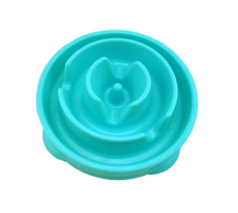 KD Healthier Pet Nutrition Slow Feeder Dog Bowl – Turquoise drop (x2 cup size – Small)