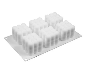 KD Mousse/Jelly/Cake Dessert 6-Cavity 3D Ball Cube Silicone Baking Mould