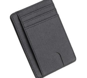 KD Minimalist Vegan Leather CardCash Holder RFID Protection