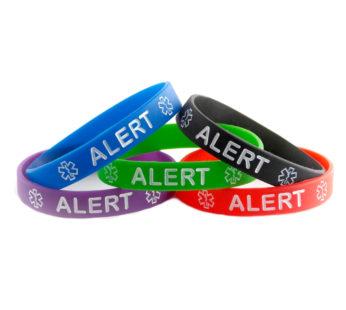 KD  Emergency Attention Medical Alert silicone bracelet set (x5)